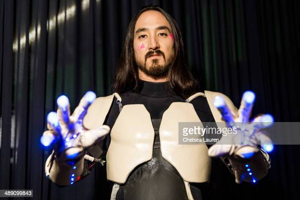 Producer Steve Aoki prepares to shoot the video for 'Rage The Night Away' on March 18 2014 in Los Angeles California
