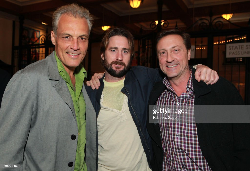 Producer Steve Eckelman, actor Luke Wilson, and producer James White attend a screening of 'Satellite Beach' at the at the 29th Santa Barbara International Film Festival on February 3, 2014 in Santa Barbara, California.