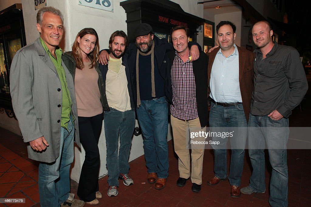 Producer Steve Eckelman, Meg Simpson, actor Luke Wilson, actor King Orba, producer James White, Peter Mergus, producer Buck Ritchey attend a screening of 'Satellite Beach' at the at the 29th Santa Barbara International Film Festival on February 3, 2014 in Santa Barbara, California.