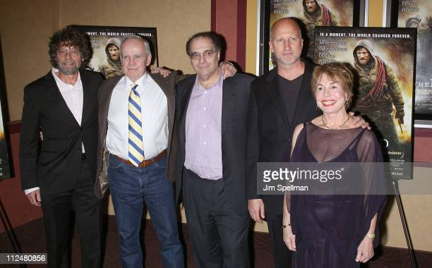 Producer Steve Schwartz author Cormac McCarthy producer Bob Weinstein director John Hillcoat and producer Paula Mae Schwartz attend the premiere of...