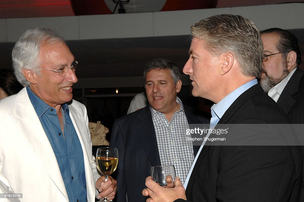 Producer Steven Bochco (L) and newsman John King attend the 2008 Summer TCA Tour Turner Party at the Beverly Hilton Hotel on July 11, 2008 in Beverly Hills, California.