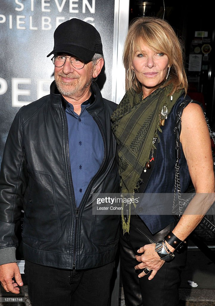 Producer Steven Spielberg and actress Kate Capshaw arrive at the 'Super 8' Los Angeles Premiere held at Regency Village Theatre on June 8 2011 in...