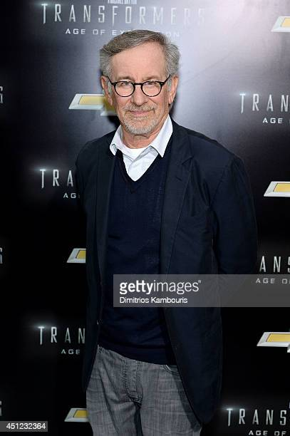 Producer Steven Spielberg attends the New York Premiere of 'Transformers Age Of Extinction' at the Ziegfeld Theatre on June 25 2014 in New York City
