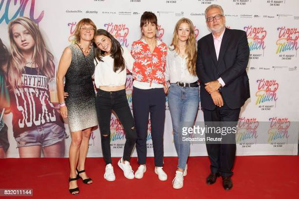 Producer Susanne Freyer actress Emily Kusche director Ute Wieland actress Flora Li Thiemann and executive producer Martin Moszkowicz attend the...
