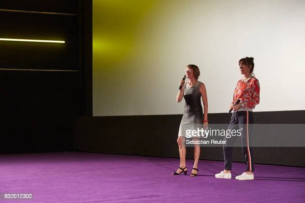 Producer Susanne Freyer and director Ute Wieland speak at the 'Tigermilch' premiere at Kino in der Kulturbrauerei on August 15 2017 in Berlin Germany