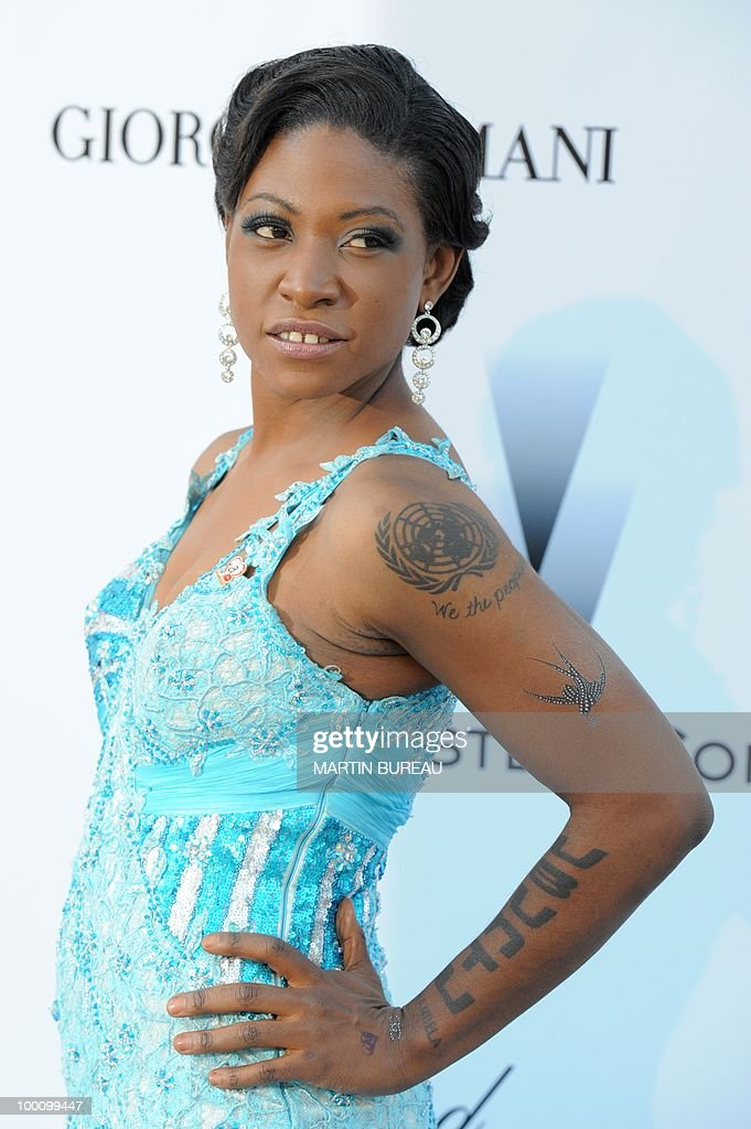 US producer Suzanne Engo poses while arriving at amfAR's Cinema Against Aids 2010 benefit gala on May 20, 2010 in Antibes, southeastern France.