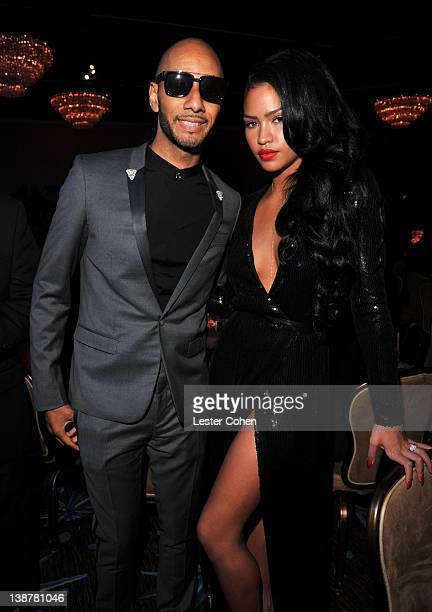 Producer Swizz Beatz and singer Cassie attend Clive Davis and The Recording Academy's 2012 PreGRAMMY Gala and Salute to Industry Icons Honoring...