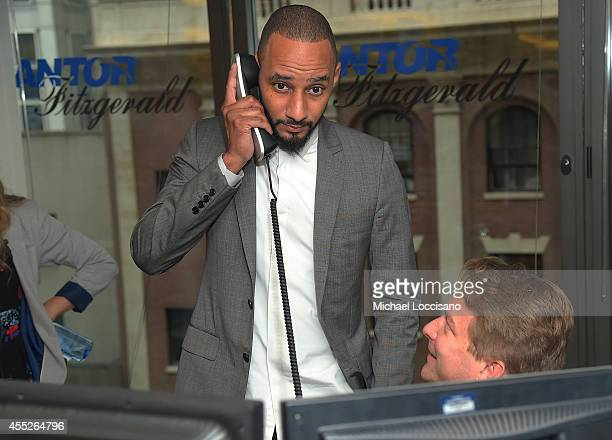 Producer Swizz Beatz attends Annual Charity Day Hosted By Cantor Fitzgerald nd BGC at Cantor Fitzgerald on September 11 2014 in New York City