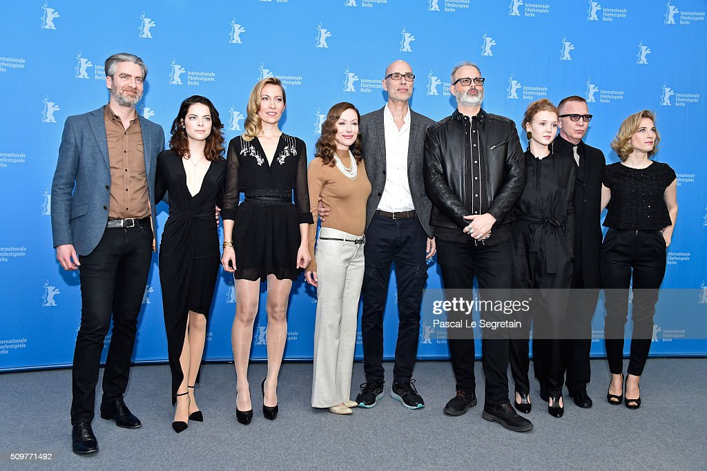 Producer Sylvain Corbeil, actors Dounia Sichov, Simone-Elise Girard, James Hyndman, director Denis Cote, Isolda Dychauk, Laetitia Isambert-Denis, Bruce LaBruce and producer <a gi-track='captionPersonalityLinkClicked' href=/galleries/search?phrase=Nancy+Grant&family=editorial&specificpeople=10321089 ng-click='$event.stopPropagation()'>Nancy Grant</a> attend the 'Boris without Beatrice' (Boris sans Beatrice) photo call during the 66th Berlinale International Film Festival Berlin at Grand Hyatt Hotel on February 12, 2016 in Berlin, Germany.