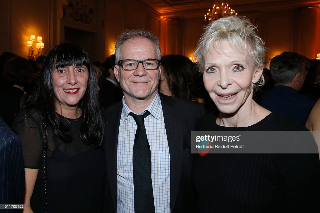 Producer Sylvie Pialat, Cannes Film Festival Delegate General Thierry Fremaux and Actress Tonie Marshall attend the 'Diner des Producteurs' - Producer's Dinner - Cesar 2016 at Four Seasons Hotel George V on February 22, 2016 in Paris, France.