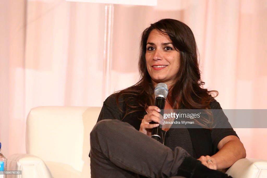 Producer Tatiana Kelly speaks at Journey to Micro-Budget Success at the Fairmont Miramar Hotel on November 6, 2012 in Santa Monica, California.