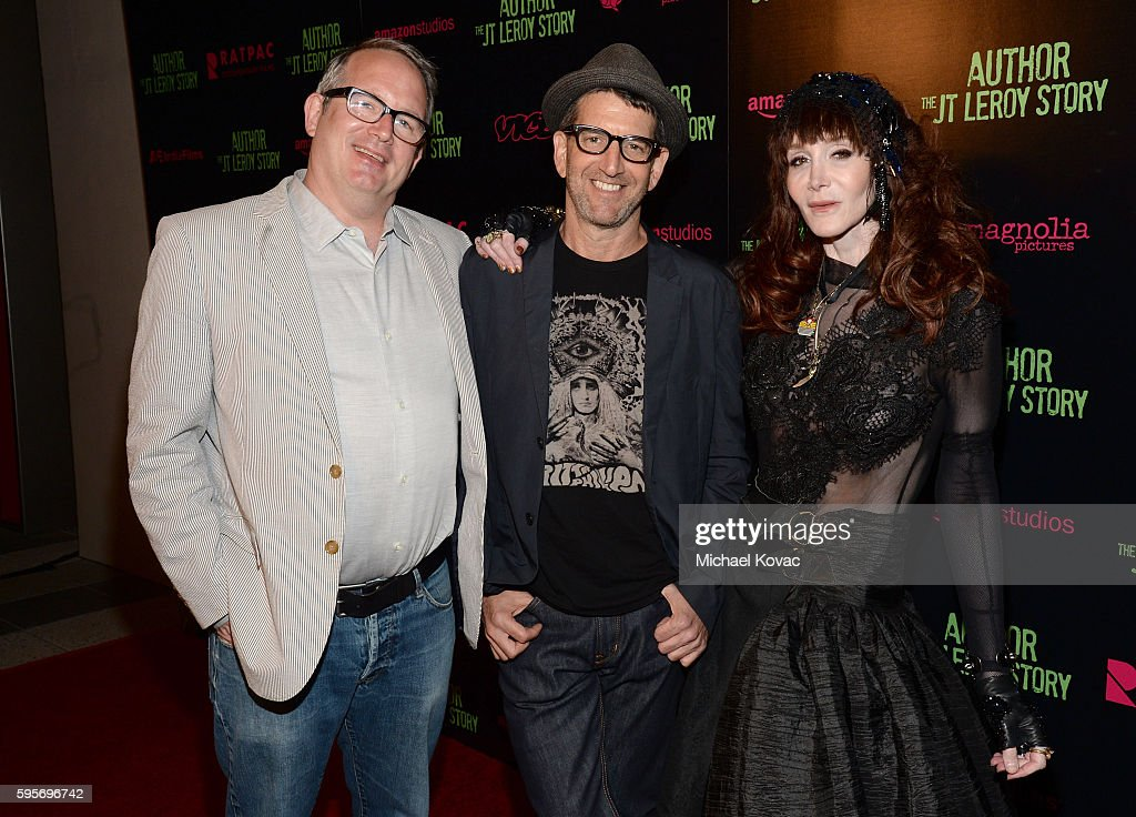 Producer Ted Hope director Jeff Feuerzeig and writer Laura Albert attend the Los Angeles Premiere of 'Author The JT Leroy Story' at NeueHouse...
