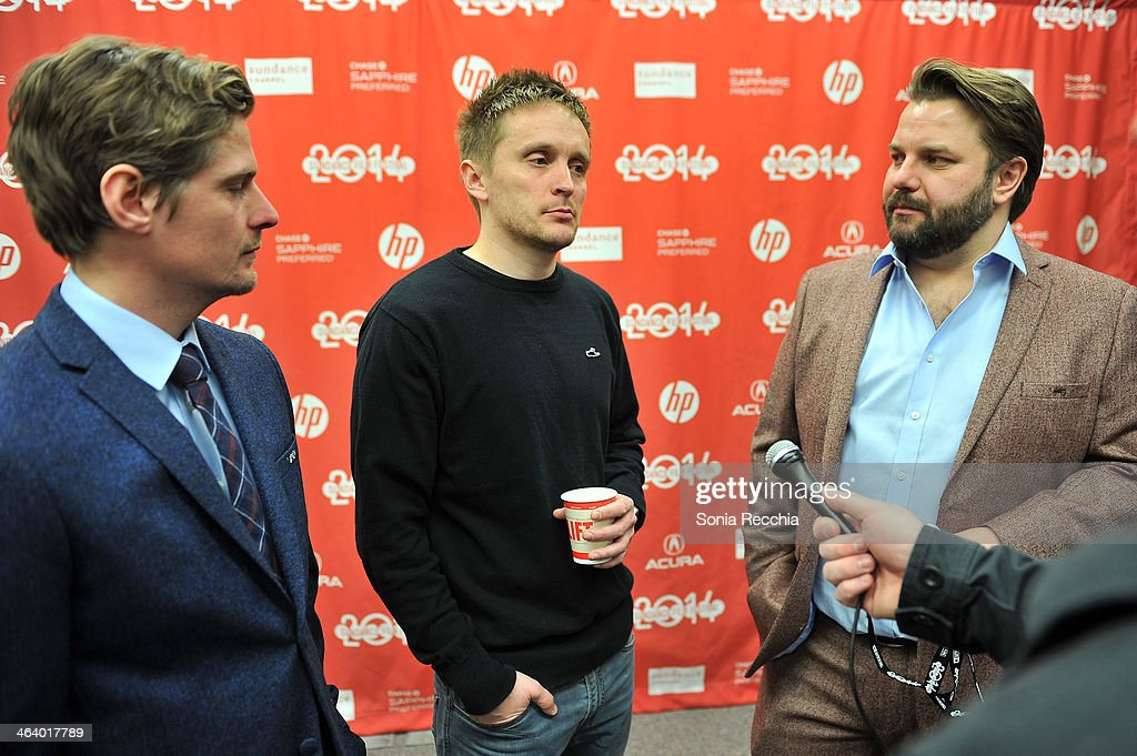 Producer Terje Strømstad, director Tommy Wirkola and producer Kjetil Omberg attend the 'Dead Snow; Red vs. Dead' premiere at Library Center Theater during the 2014 Sundance Film Festival on January 19, 2014 in Park City, Utah.