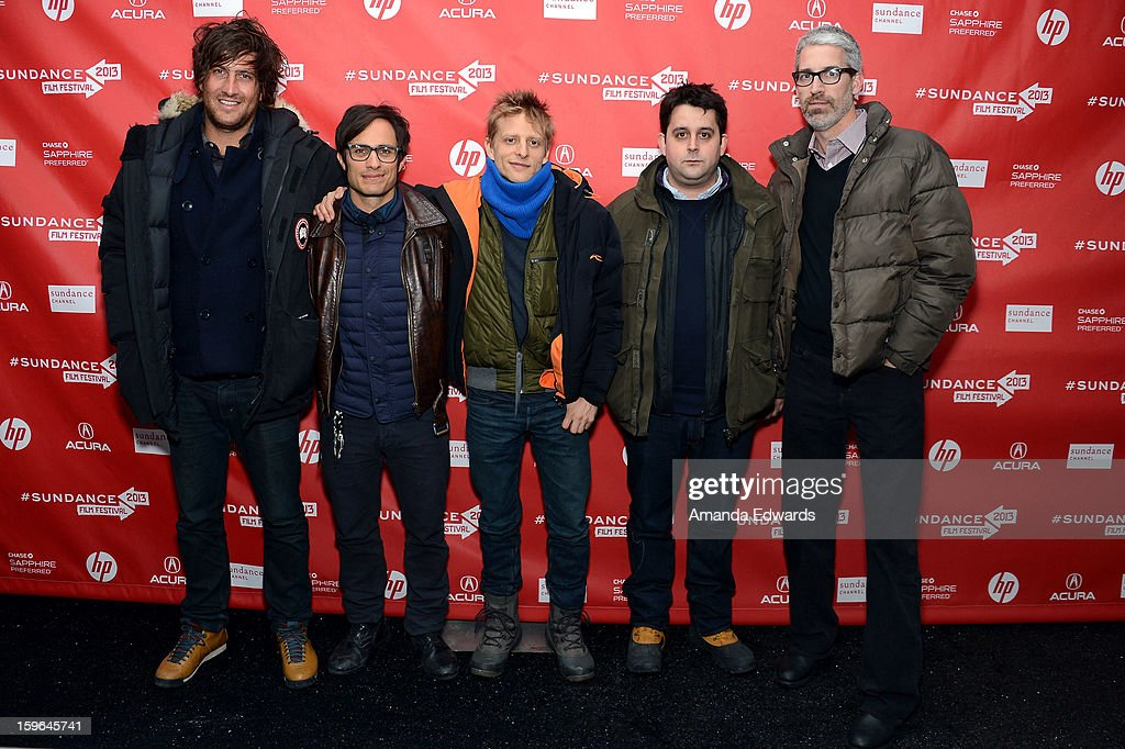 Producer Thomas Benski, actor/producer <a gi-track='captionPersonalityLinkClicked' href=/galleries/search?phrase=Gael+Garcia+Bernal&family=editorial&specificpeople=202025 ng-click='$event.stopPropagation()'>Gael Garcia Bernal</a>, director Marc Silver, producer Lucas Ochoa and screenwriter Mark Monroe attend the 'Who Is Dayani' premiere during the 2013 Sundance Film Festival at The Marc Theatre on January 17, 2013 in Park City, Utah.