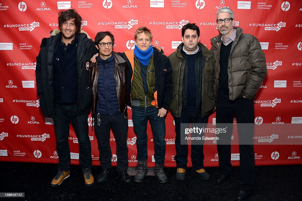 Producer Thomas Benski, actor/producer Gael Garcia Bernal, director Marc Silver, producer Lucas Ochoa and screenwriter Mark Monroe attend the 'Who Is Dayani' premiere during the 2013 Sundance Film Festival at The Marc Theatre on January 17, 2013 in Park City, Utah.