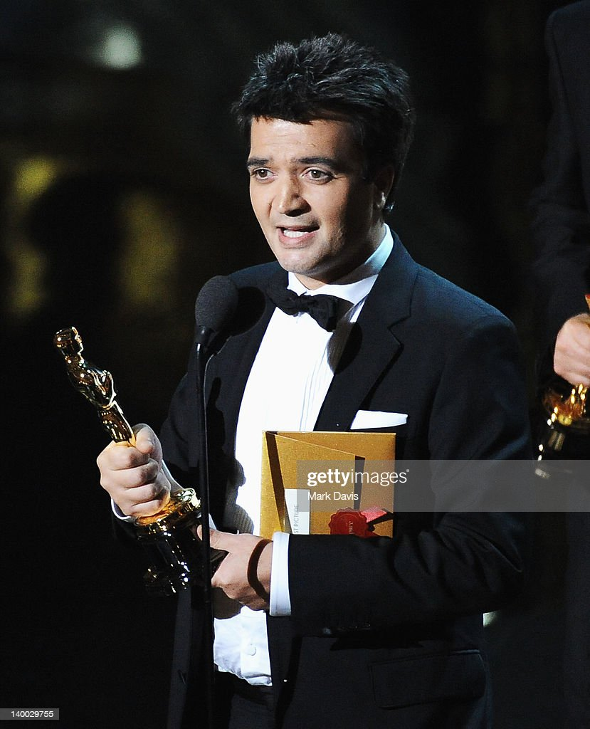 Producer Thomas Langmann accepts award onstage during the 84th Annual Academy Awards held at the Hollywood Highland Center on February 26 2012 in...