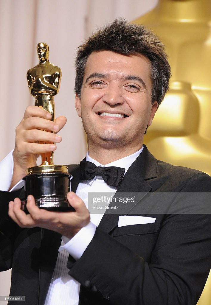 Producer Thomas Langmann poses in the press room at the 84th Annual Academy Awards held at the Hollywood Highland Center on February 26 2012 in...