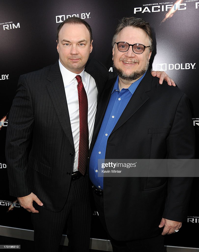 Producer <a gi-track='captionPersonalityLinkClicked' href=/galleries/search?phrase=Thomas+Tull&family=editorial&specificpeople=549201 ng-click='$event.stopPropagation()'>Thomas Tull</a> (L) and filmmaker <a gi-track='captionPersonalityLinkClicked' href=/galleries/search?phrase=Guillermo+del+Toro&family=editorial&specificpeople=609181 ng-click='$event.stopPropagation()'>Guillermo del Toro</a> arrive at the premiere of Warner Bros. Pictures' and Legendary Pictures' 'Pacific Rim' at Dolby Theatre on July 9, 2013 in Hollywood, California.