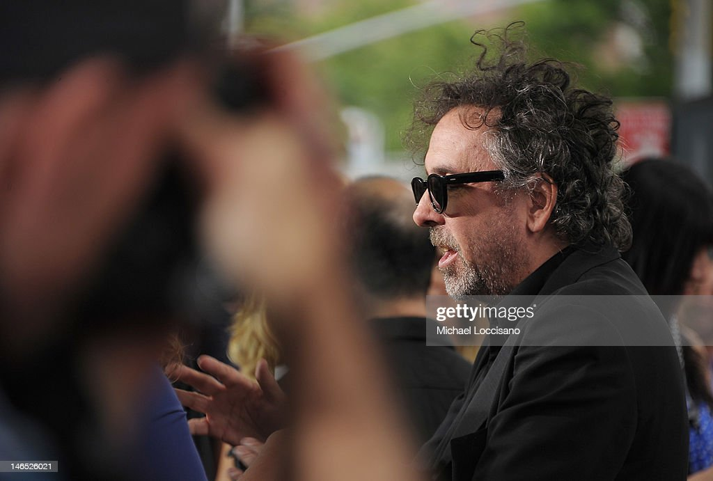 Producer <a gi-track='captionPersonalityLinkClicked' href=/galleries/search?phrase=Tim+Burton&family=editorial&specificpeople=206342 ng-click='$event.stopPropagation()'>Tim Burton</a> is interviewed during the 'Abraham Lincoln: Vampire Slayer 3D' New York Premiere at AMC Loews Lincoln Square 13 theater on June 18, 2012 in New York City.
