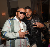 Producer Timbaland and recording artist Usher Raymond attends the ASCAP Rhythm And Soul 3rd Annual Atlanta Legends Dinner Honoring Antonio 'LA' Reid...