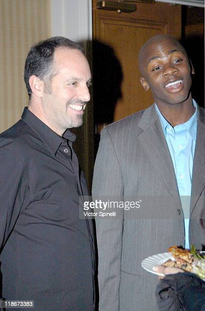 Producer Todd Black and Derek Luke during 'Antwone Fisher' Named Creative Coalition's 2003 Spotlight Award Winner at Peninsula Hotel in Beverly Hills...