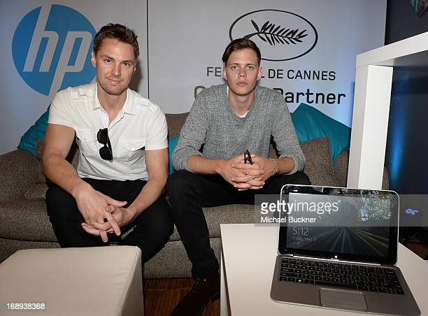 Producer Todd Courtney and actor Bill Skarsgard attend the Variety Studio at the 66th Annual Cannes Film Festival at Chivas House on May 17 2013 in...