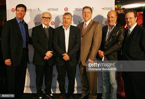 Producer Todd Wagner director Barry Levinson actor Robert De Niro AFI's Michael Cain writer Art Linson and AFI's Bob Gazzale pose at AFI's Dallas...