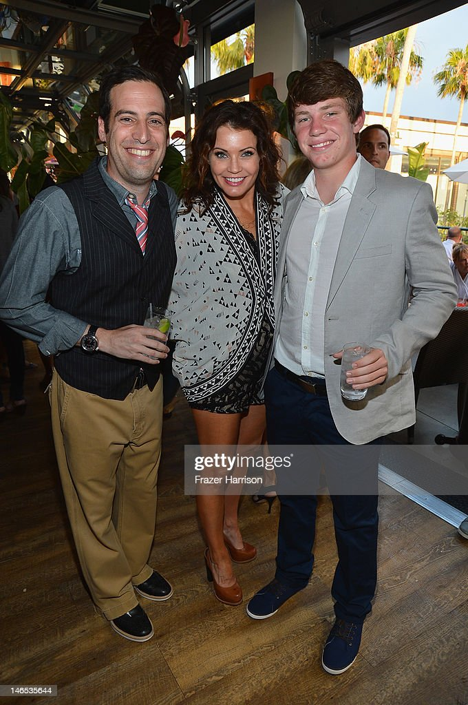 Producer Tom Forman, TV personality Tanya McQueen and Colin Wiese attend the season premiere viewing party of Bravo's 'Miss Advised' hosted by Executive Producer Ashley Tisdale held at Planet Dailies & Mixology 101 on June 18, 2012 in Los Angeles, California.