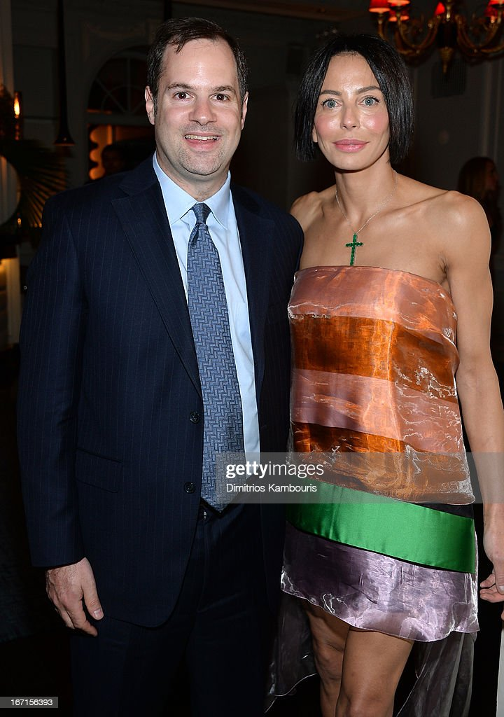 Producer Tom Heller and Lisa Falcone attend the after party for The Cinema Society with FIJI Water & Levi's screening of 'Mud' at Harlow on April 21, 2013 in New York City.