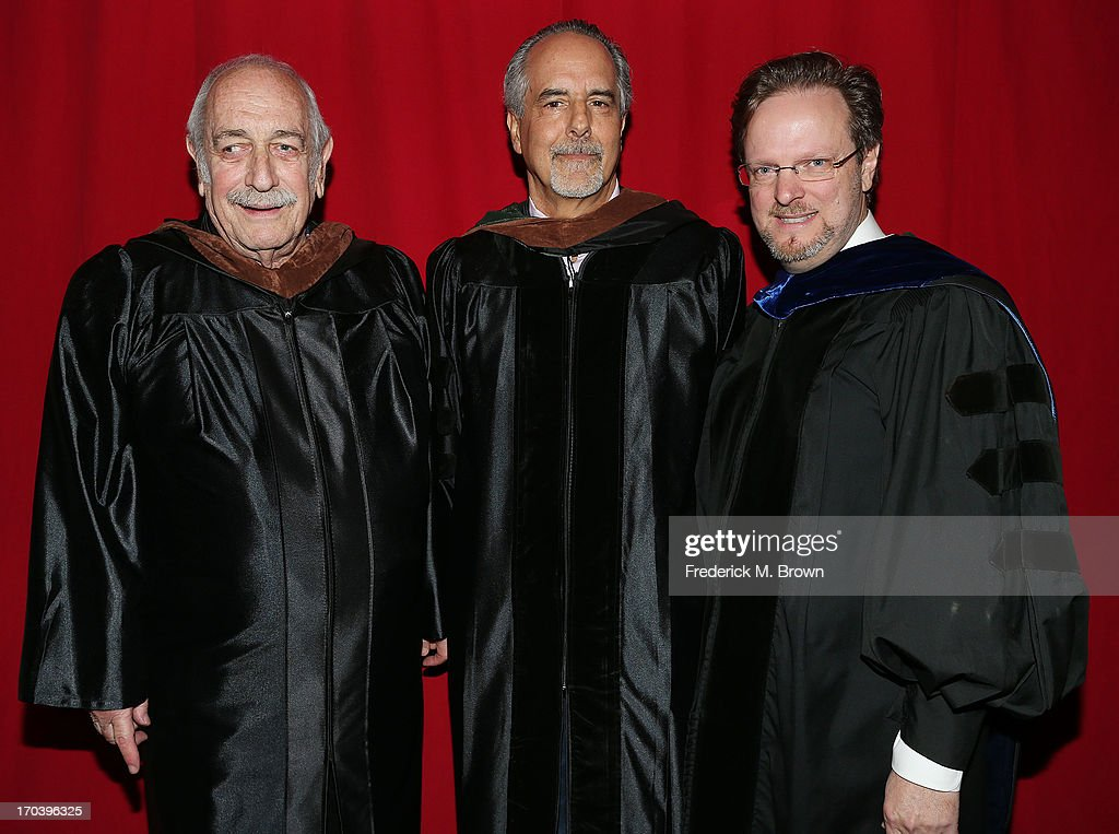 Producer Tom Pollock, producer Jon Avnet and AFI President Bob Gazzale attend the 2013 AFI Conservatory Commencement Ceremony at the El Capitan Theatre on June 12, 2013 in Hollywood, California.