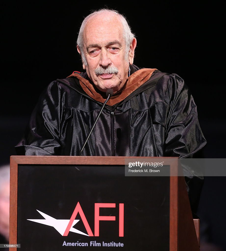 Producer Tom Pollock speaks during the 2013 AFI Conservatory Commencement Ceremony at the El Capitan Theatre on June 12, 2013 in Hollywood, California.