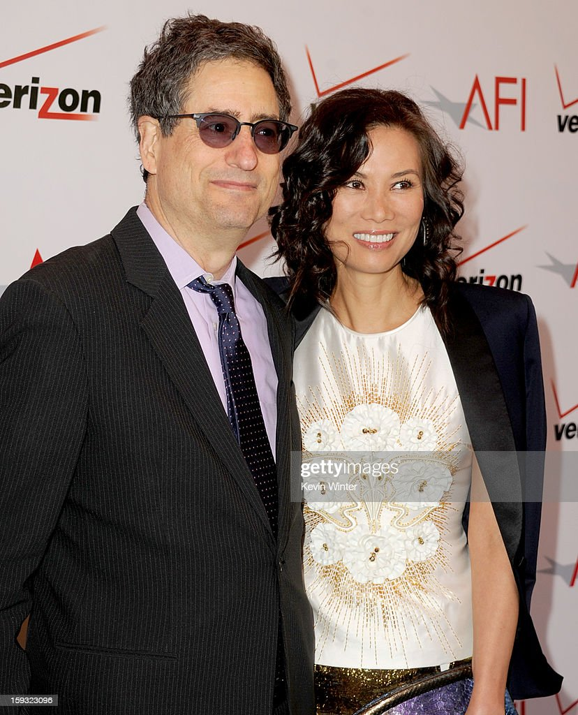 Producer Tom Rothman and Wendi Murdoch attend the 13th Annual AFI Awards at Four Seasons Los Angeles at Beverly Hills on January 11, 2013 in Beverly Hills, California.