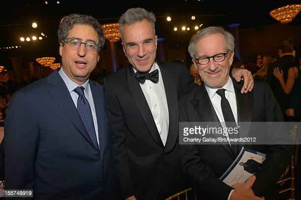 Producer Tom Rothman honoree Daniel DayLewis and director Steven Spielberg attend the 2012 BAFTA Los Angeles Britannia Awards Presented By BBC...
