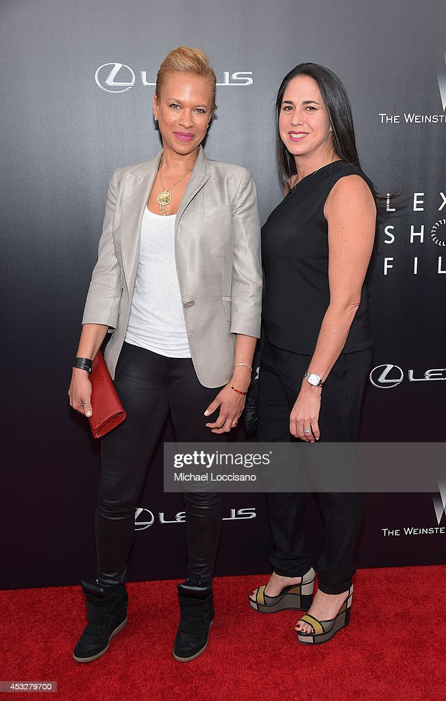 Producer Tonya Lewis Lee (L) and Nikki Silver attend the 2nd Annual Lexus Short Films 'Life is Amazing' New York premiere presented by The Weinstein Company and Lexus at SVA Theater on August 6, 2014 in New York City.
