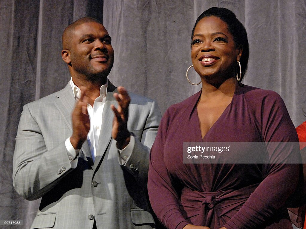 Producer Tyler Perry and Executive Producer Oprah Winrey attend the 'Precious' Based On The Novel Push By Sapphire premiere at the Roy Thomson Hall...