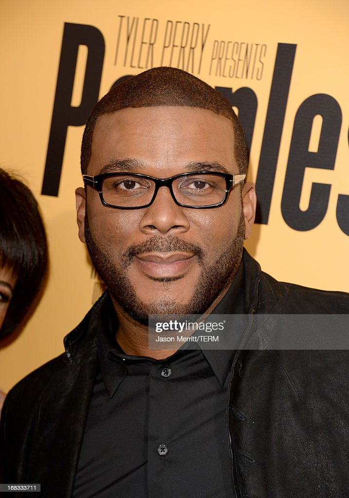 Producer <a gi-track='captionPersonalityLinkClicked' href=/galleries/search?phrase=Tyler+Perry&family=editorial&specificpeople=678008 ng-click='$event.stopPropagation()'>Tyler Perry</a> arrives at the premiere of 'Peeples' presented by Lionsgate Film and <a gi-track='captionPersonalityLinkClicked' href=/galleries/search?phrase=Tyler+Perry&family=editorial&specificpeople=678008 ng-click='$event.stopPropagation()'>Tyler Perry</a> at ArcLight Hollywood on May 8, 2013 in Hollywood, California.
