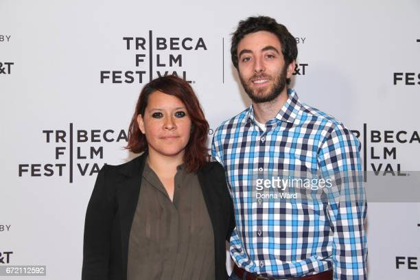 Producer Valeria Lopez and Alex Coffey attend Tribeca TV Pilot Season 'Lost and Found' showing during the 2017 Tribeca Film Festival at Cinepolis...