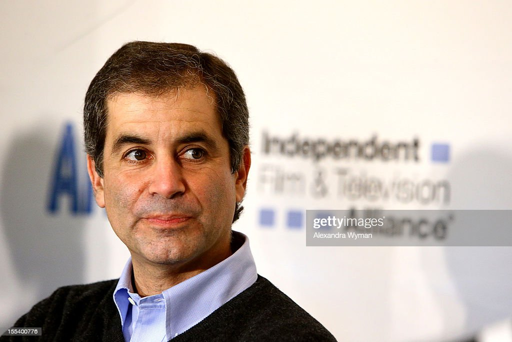 Producer Victor Levin speaks at 'A Conversation with Bonnie Curtis and Victor Levin' at the Loews Santa Monica Beach Hotel on November 3, 2012 in Santa Monica, California.