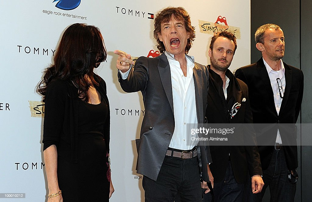 Producer Victoria Pearman and Mick Jagger of the Rolling Stones and producer John Battsek attends the 'Stones In Excile' Photocall at the Majestic Hotel during the 63rd Annual Cannes Film Festival on May 19, 2010 in Monaco, Monaco.