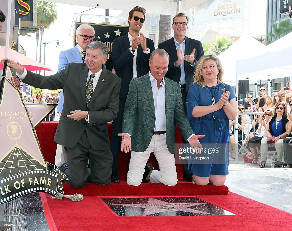 Producer Vin Di Bona Hollywood Chamber of Commerce President/CEO Leron Gubler songwriter and Michael Keaton's son Sean Douglas actor Michael Keaton...