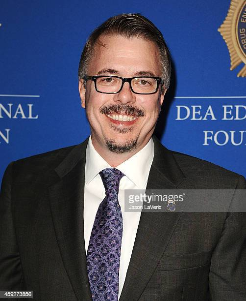 Producer Vince Gilligan attends the Drug Enforcement Administration Educational Foundation gala honoring 'Breaking Bad' at The Beverly Hilton Hotel...