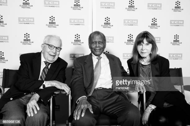 Producer Walter Mirisch actor Sidney Poitier and actor Lee Grant attend the 50th anniversary screening of 'In the Heat of the Night' during the 2017...