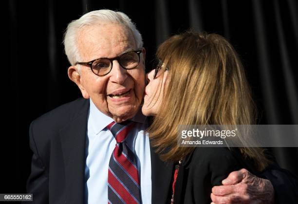 Producer Walter Mirisch and actress Lee Grant arrive at the 2017 TCM Classic Film Festival Opening Night Gala 50th Anniversary Screening of 'In The...