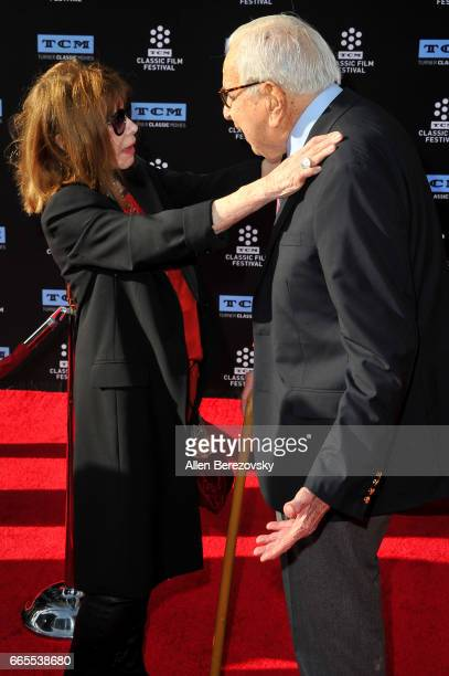 Producer Walter Mirisch and actress Lee Grant attends 2017 TCM Classic Film Festival's opening night gala and 50th anniversary screening of 'In The...