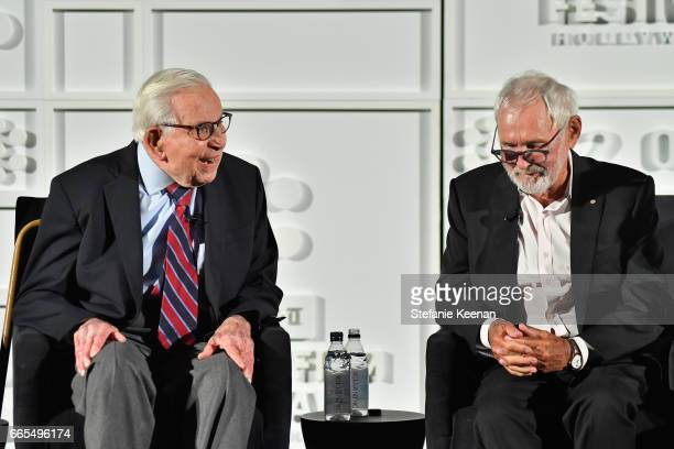 Producer Walter Mirisch and director Norman Jewison speak onstage during the 50th anniversary screening of 'In the Heat of the Night' during the 2017...