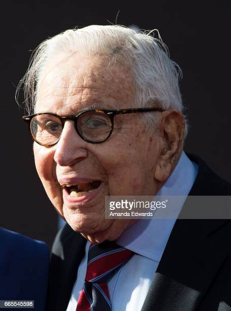 Producer Walter Mirisch arrives at the 2017 TCM Classic Film Festival Opening Night Gala 50th Anniversary Screening of 'In The Heat Of The Night' at...