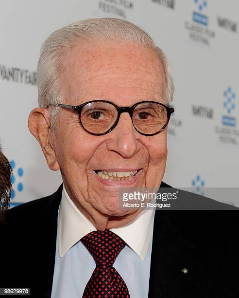 Producer Walter Mirisch arrives at the TCM Classic Film Festival's gala opening night world premiere of the newly restored film 'A Star Is Born' at...
