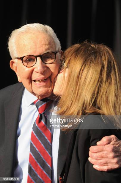 Producer Walter Mirisch attends the 50th anniversary screening of 'In the Heat of the Night' during the 2017 TCM Classic Film Festival on April 6...