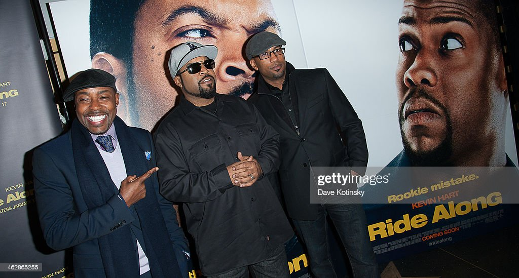 Producer Will Packer, actor Ice Cube and director <a gi-track='captionPersonalityLinkClicked' href=/galleries/search?phrase=Tim+Story&family=editorial&specificpeople=2211861 ng-click='$event.stopPropagation()'>Tim Story</a> attend the 'Ride Along' screening>> at AMC Loews Lincoln Square on January 15, 2014 in New York City.