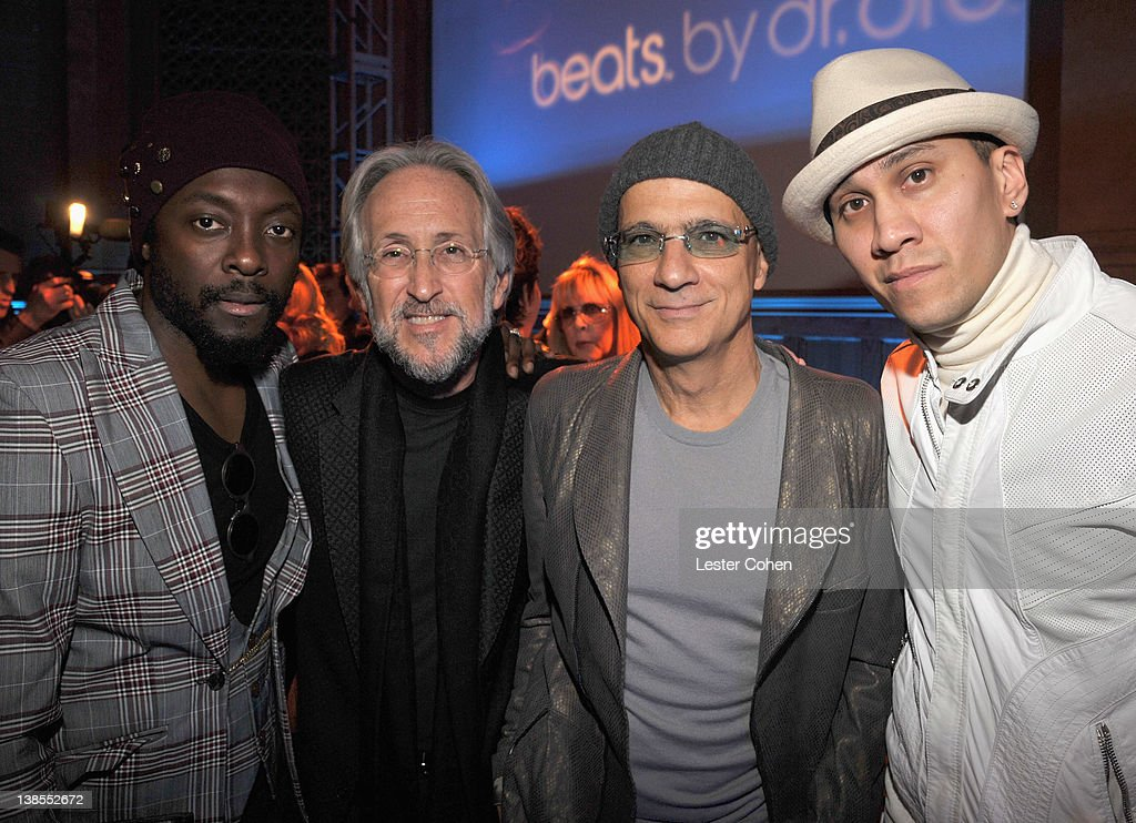 Producer will.i.am, President and CEO of the Recording Academy <a gi-track='captionPersonalityLinkClicked' href=/galleries/search?phrase=Neil+Portnow&family=editorial&specificpeople=208909 ng-click='$event.stopPropagation()'>Neil Portnow</a>, honoree <a gi-track='captionPersonalityLinkClicked' href=/galleries/search?phrase=Jimmy+Iovine&family=editorial&specificpeople=850753 ng-click='$event.stopPropagation()'>Jimmy Iovine</a> and producer <a gi-track='captionPersonalityLinkClicked' href=/galleries/search?phrase=Taboo+-+Singer&family=editorial&specificpeople=203068 ng-click='$event.stopPropagation()'>Taboo</a> attend The 54th Annual GRAMMY Awards P&E Wing Event at The Village Recording Studios on February 8, 2012 in Los Angeles, California.